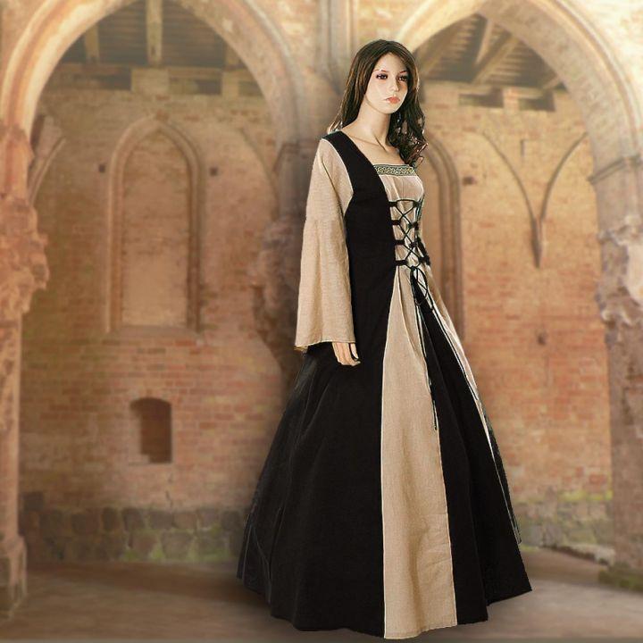 Kleid Fabienne schwarz-sand