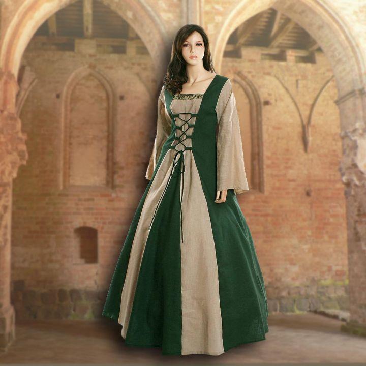 Kleid Fabienne grün-sand