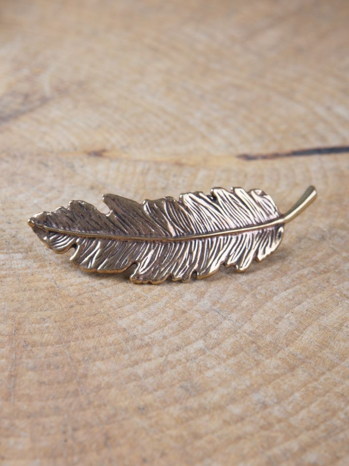 Feder-Fibel aus Bronze