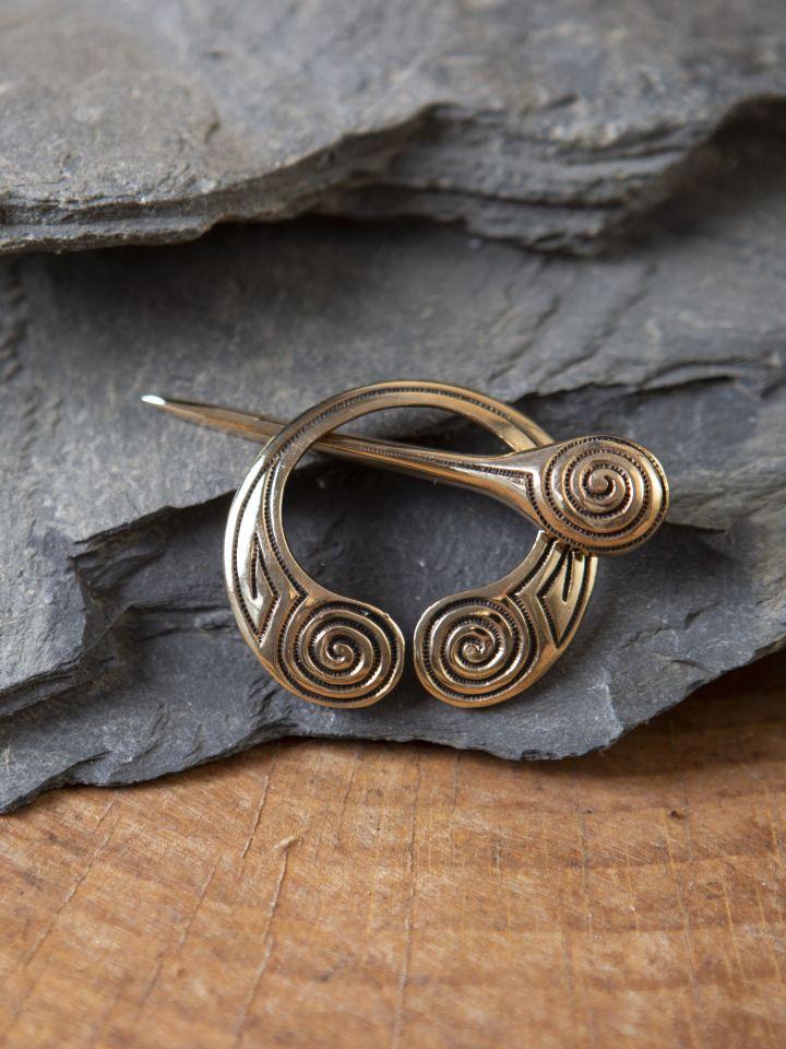 Keltische Gewandnadel mit Spiralmuster
