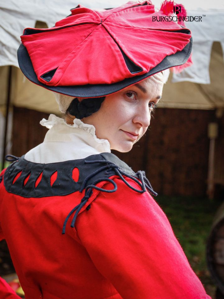 Flora Trossfrauen-Barett rot-schwarz