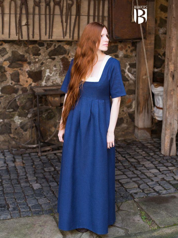 Kleid Frideswinde blau S