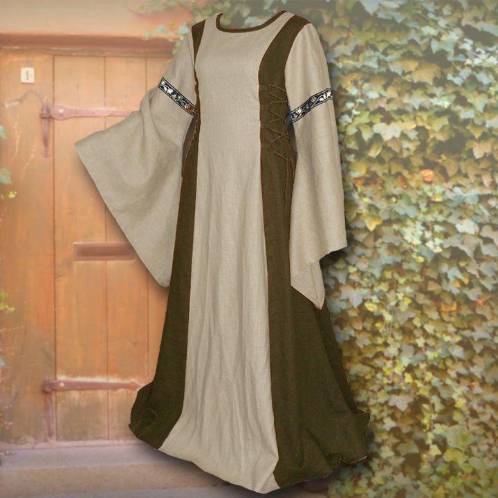 Kleid Frieda oliv-sand