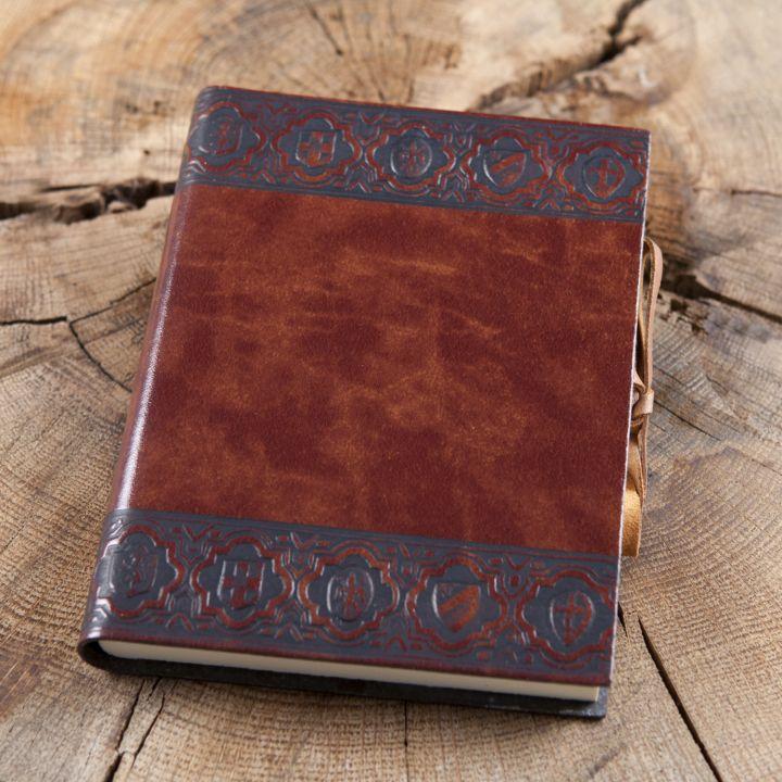 """Schreibbuch """"Scudi"""" im Ledereinband"""