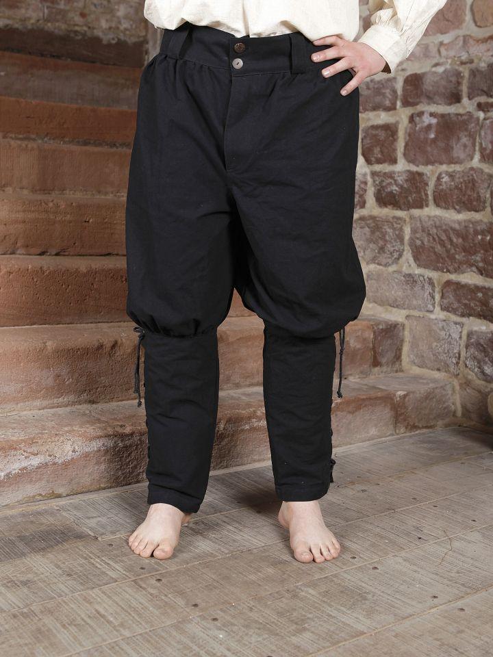 Wikingerhose in schwarz