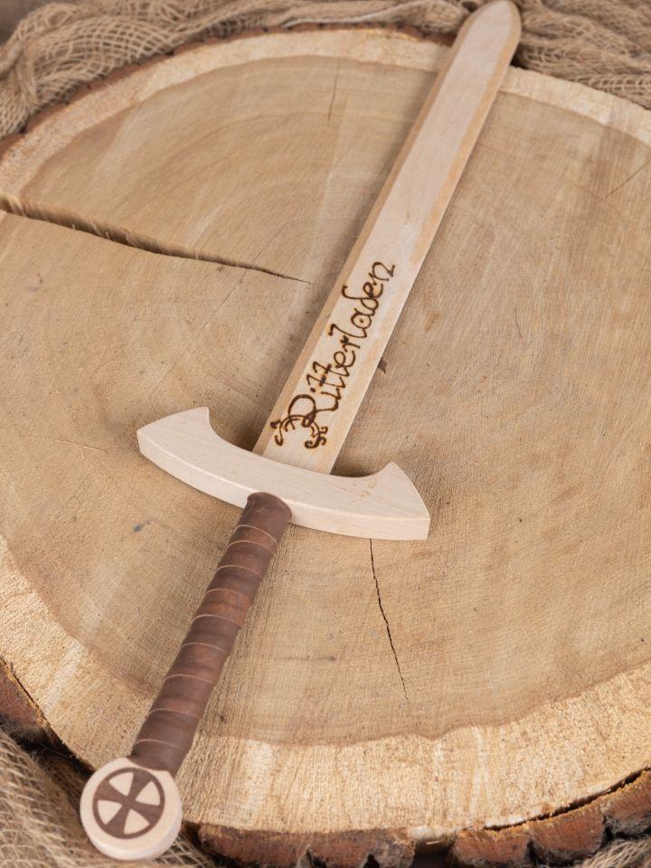 Holzschwert Tempelritter mit individueller Gravur