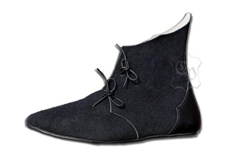 Mittelalter Halbstiefel mit Gummisohle schwarz 43