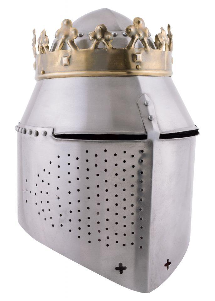 Grosser Königlicher Topfhelm mit Krone