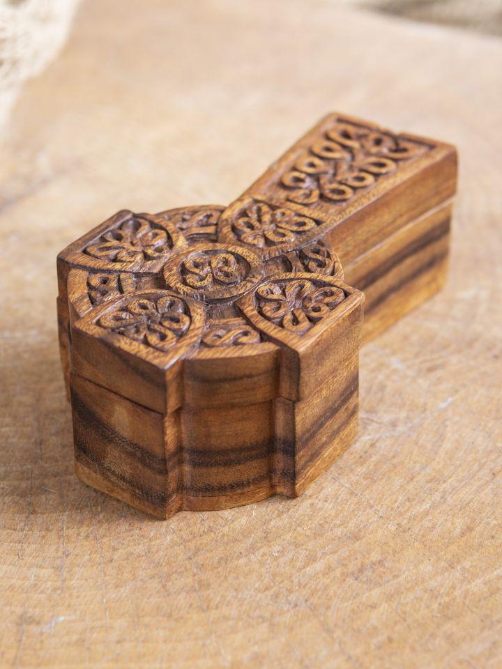 Holzdose Keltisches Kreuz