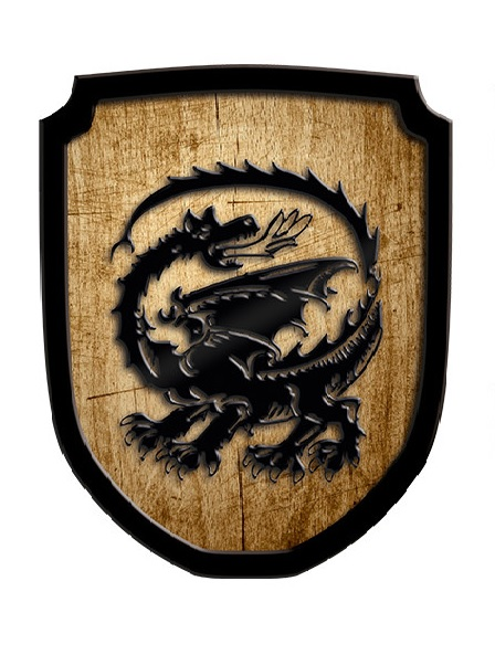 Holzschild Drache