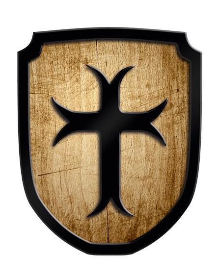 Holzschild Kreuzritter