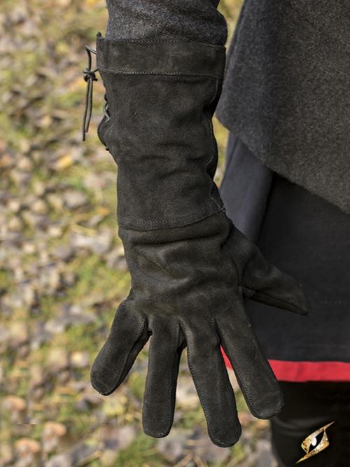 Wildlederhandschuhe schwarz
