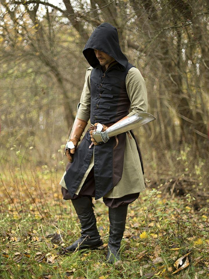 Westenmantel Altair braun-schwarz
