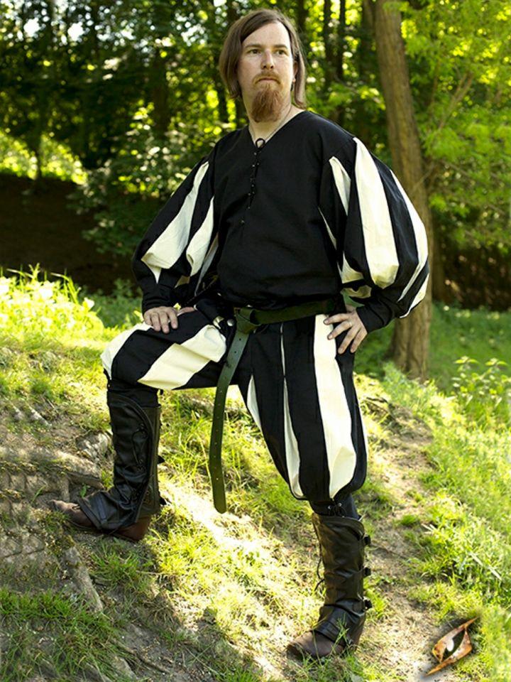 Hose Landsknecht schwarz-weiß