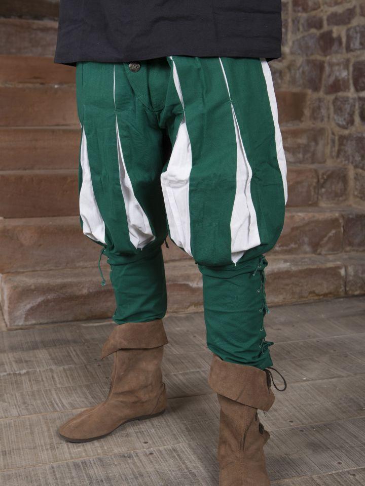 Hose Landsknecht grün-weiß