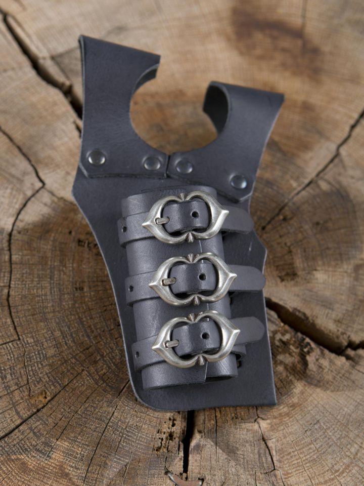 Schwerthalter mit 3 Schnallen schwarz