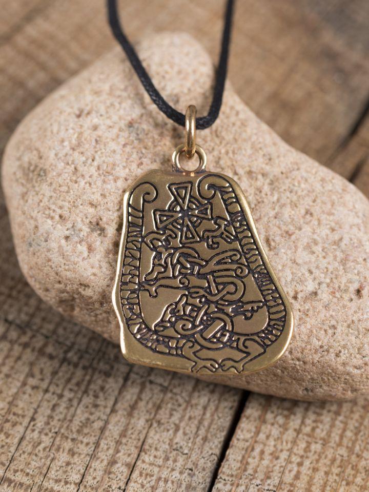 """Bronzeanhänger """"Runenstein"""""""