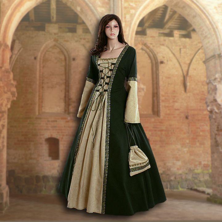 Kleid Iris grün-schilf