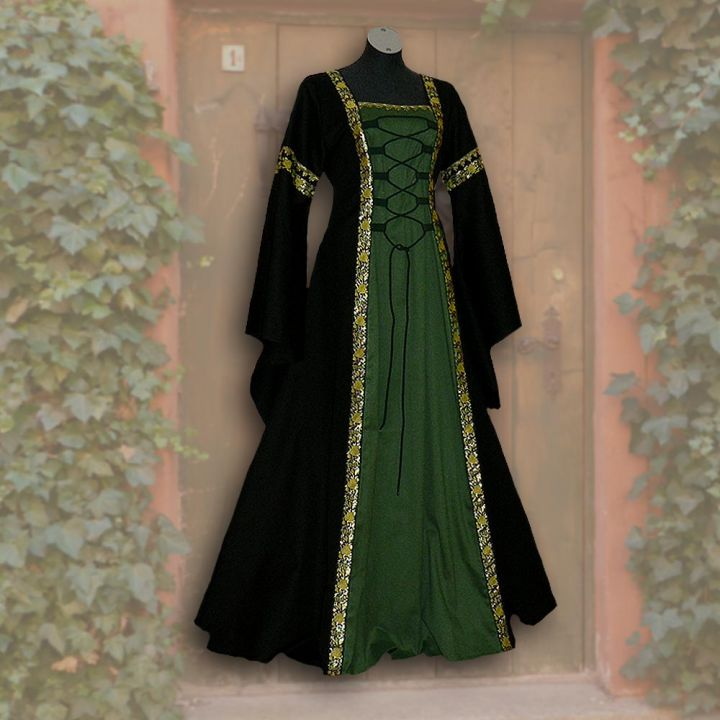 Kleid Iris schwarz-grün