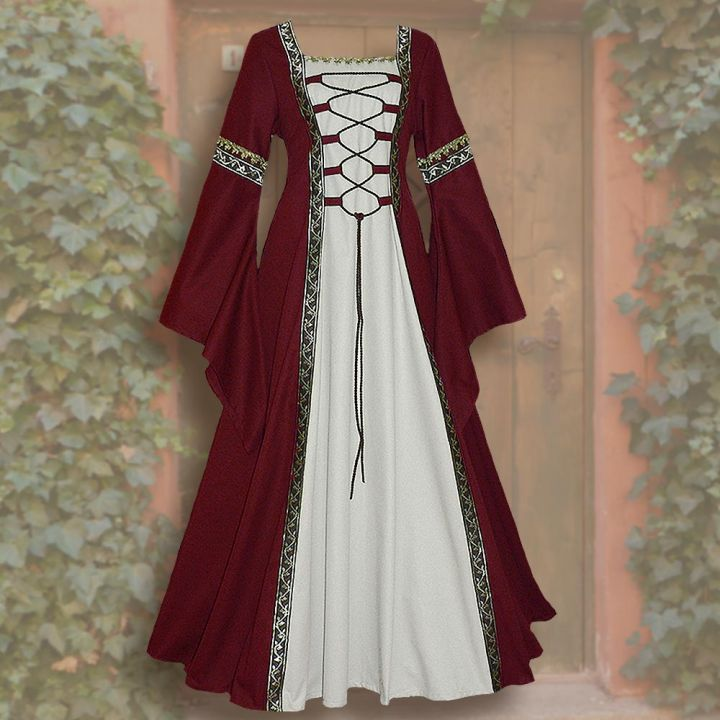 Kleid Iris rot-weiß