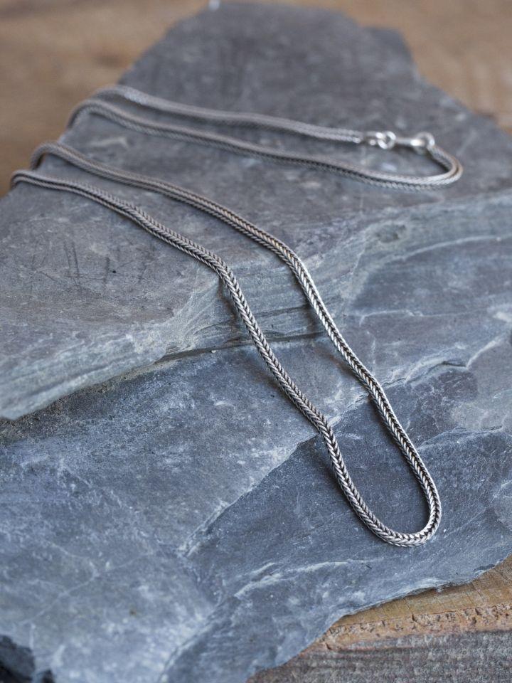 Geflochtene Silberkette 51 cm