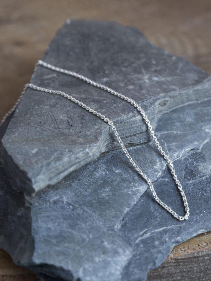 Zarte Silberkette 50 cm