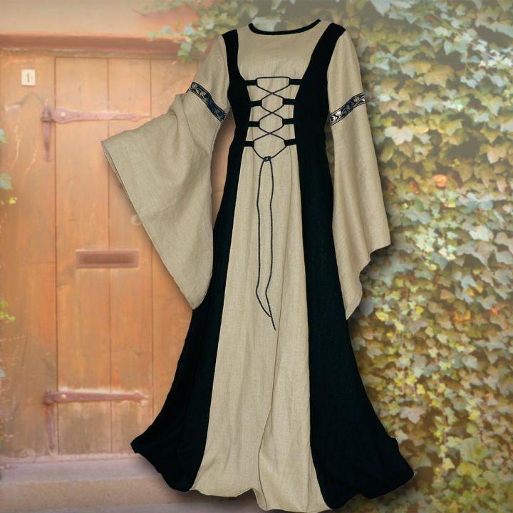 Kleid Katharina schwarz-sand