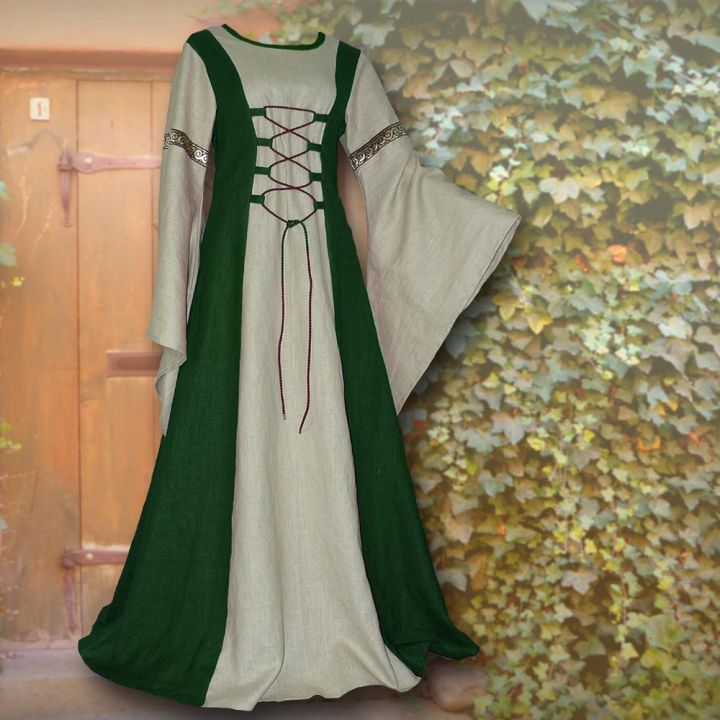 Kleid Katharina waldgrün-sand