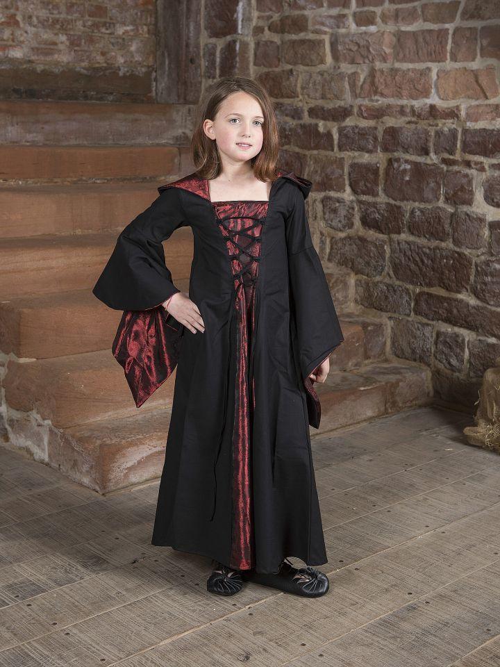 Kinderkleid Gretlin schwarz-rot
