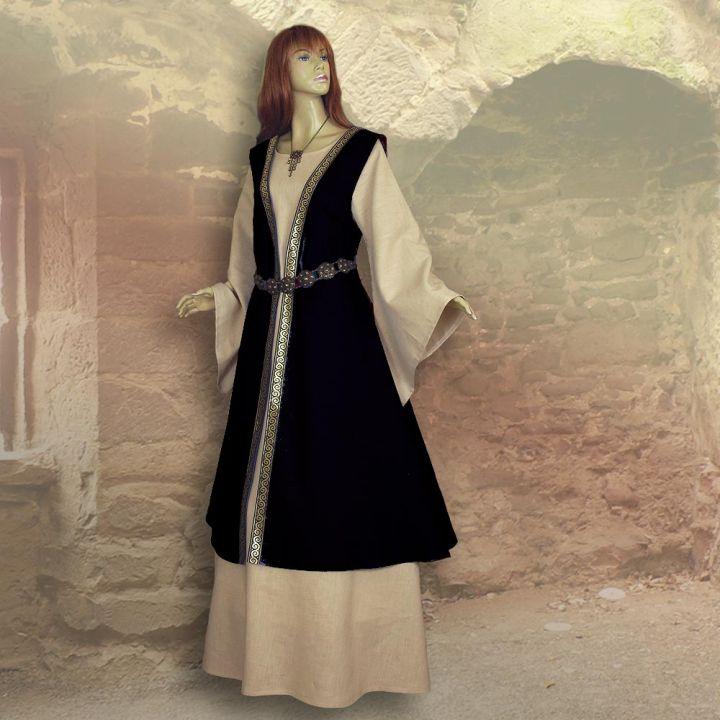 Zweiteiliges Gewand Kriemhild schwarz