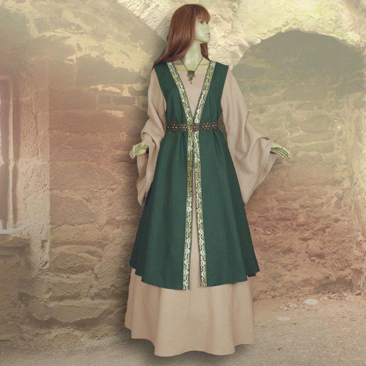Zweiteiliges Gewand Kriemhild grün