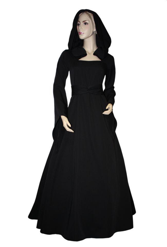 Mittelalterkleid Julia schwarz