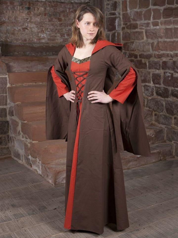 Mittelalterkleid Ketlin in braun-rot
