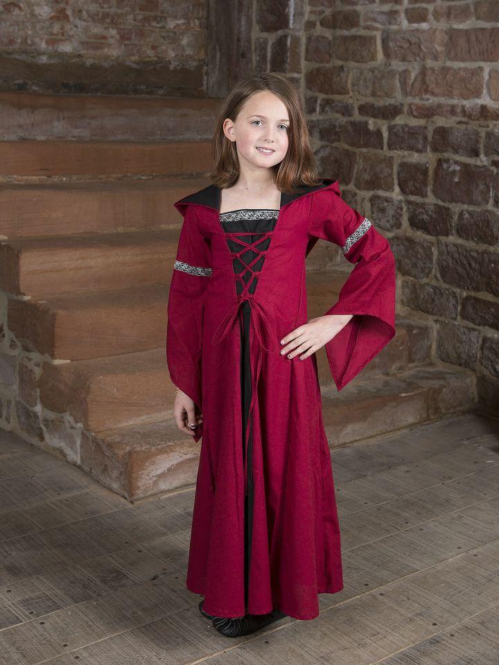 Kinderkleid Helena schwarz-rot