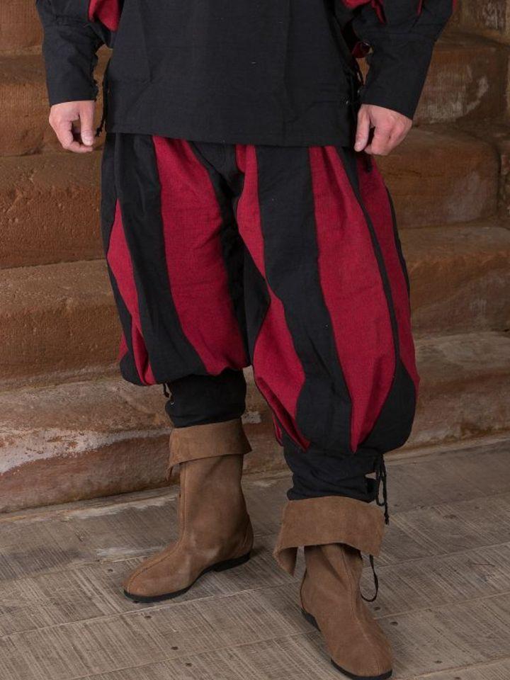 Landsknechthose schwarz-rot