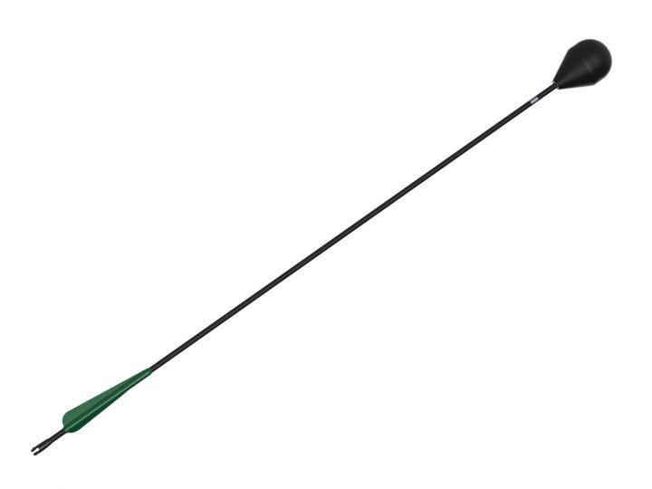 Larp-Pfeil mit grüner Befiederung