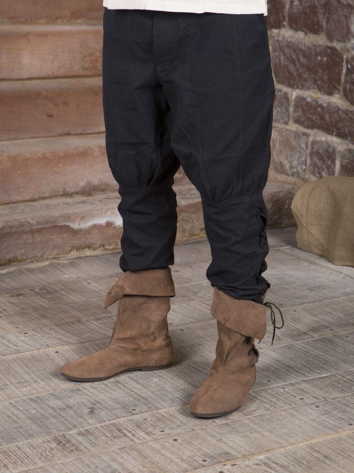 Hose mit Beinschnürung schwarz