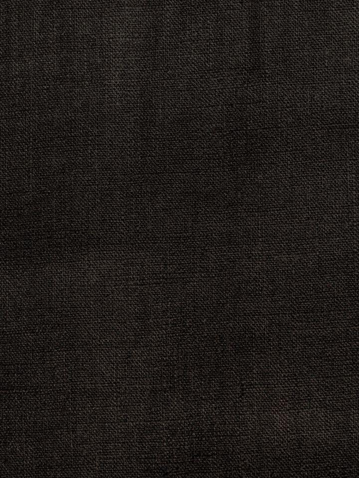 Leinenstoff Meterware - schwarz
