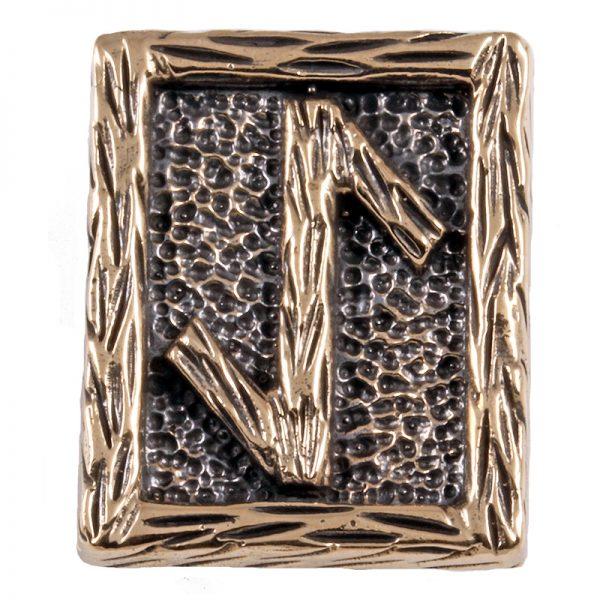 Rune EIHWAZ aus Bronze