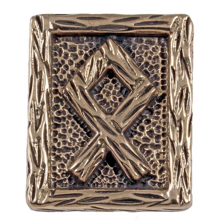 Rune OTHALA aus Bronze