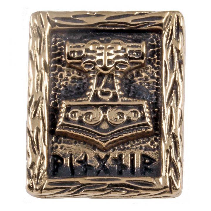Rune THORS HAMMER aus Bronze