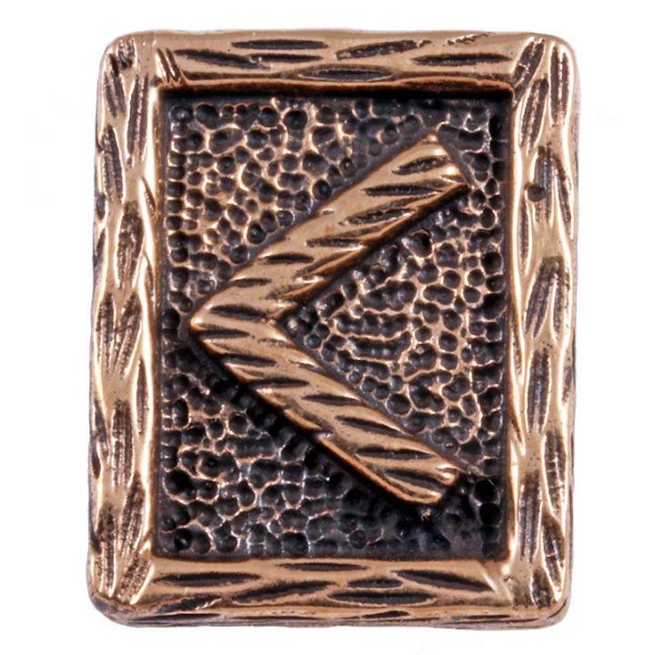 Rune KENAZ aus Bronze