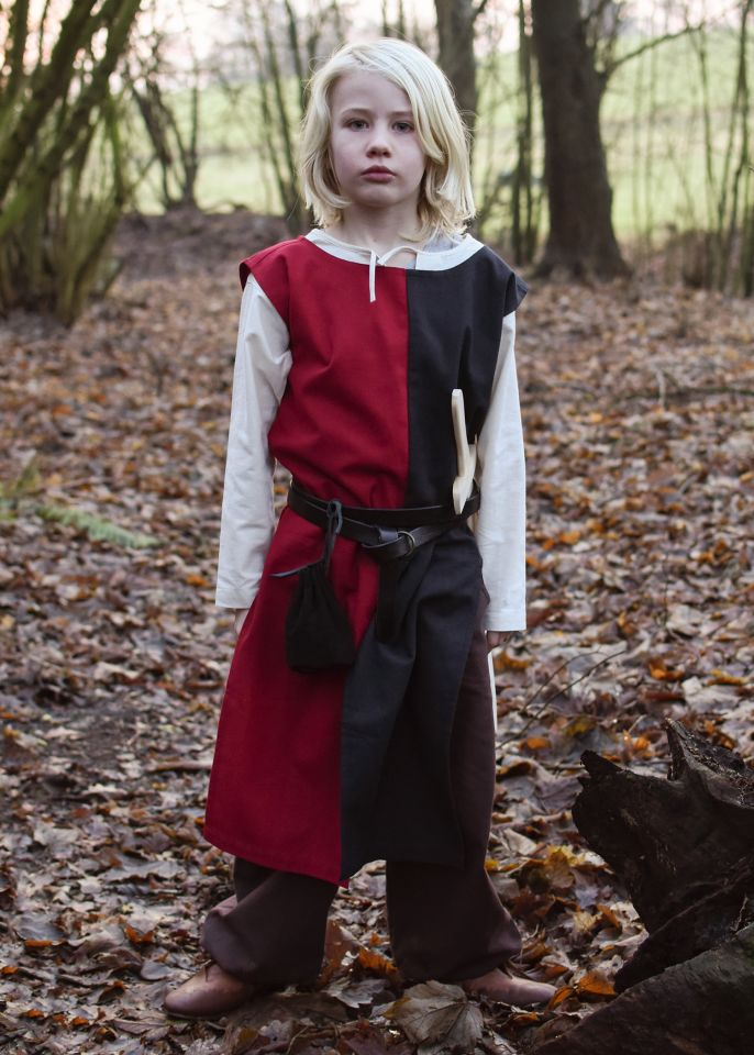 Kinder Waffenrock Lucas schwarz-rot