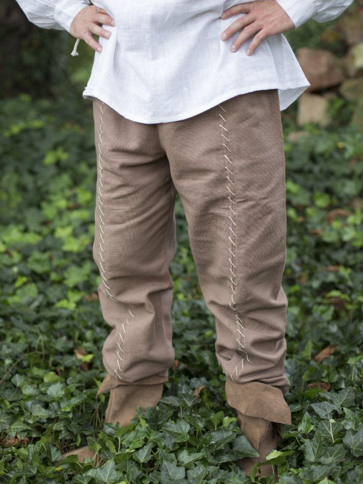 Braune Baumwollhose