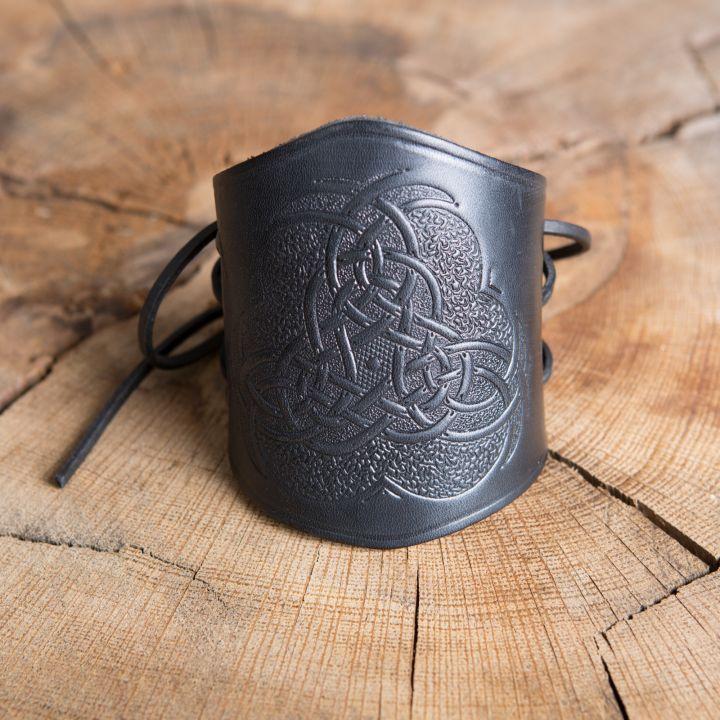Armstulpe geprägt keltischer Knoten schwarz