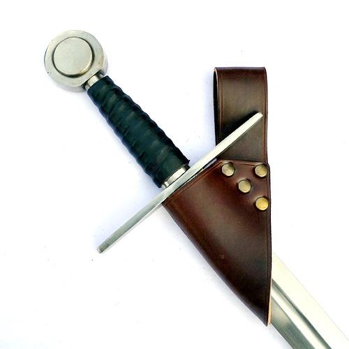 Schwerthalter für den Gürtel schwarz