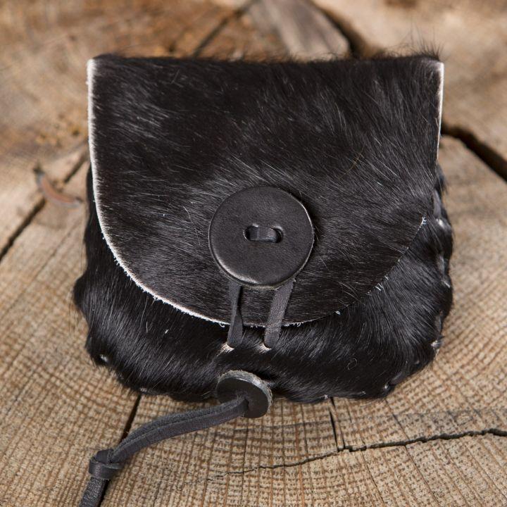 Gürteltasche aus Kuhfell schwarz