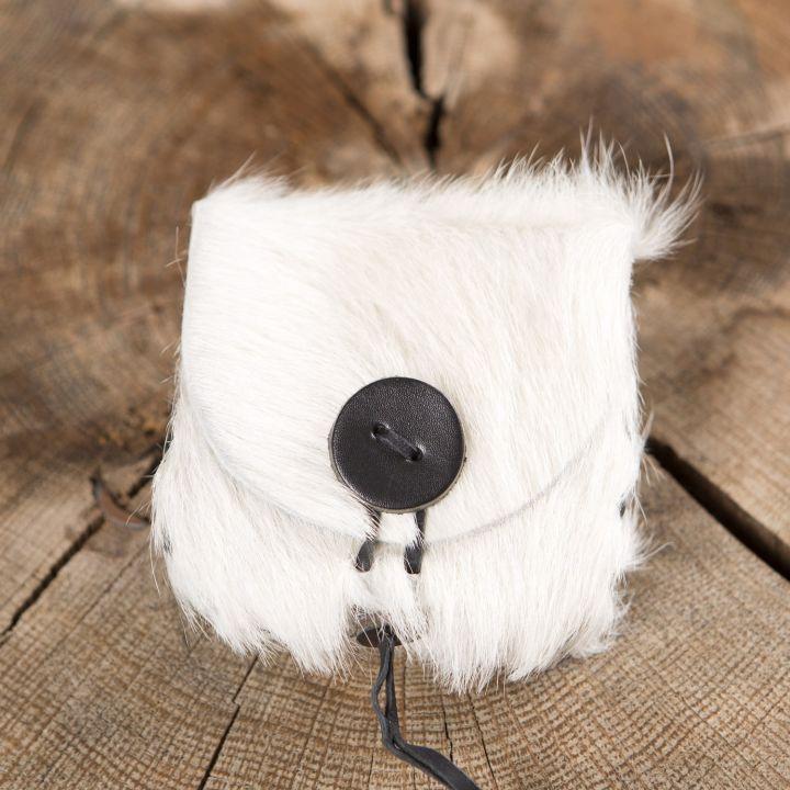 Gürteltasche aus Kuhfell weiß