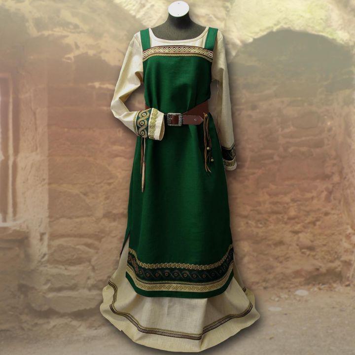 Wikingerkleid Runhild - waldgrün