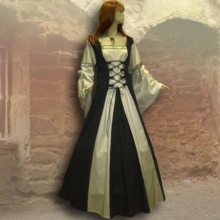 Kleid Sybille schwarz-sand